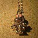 Beautiful Rhinestone Crystal Bunny Rabbit Bling Necklace & Pendant New #802