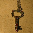 Adorable Multi-Color Rhinestone Key Hello Kitty Necklace & Pendant New #825