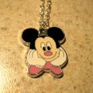 Adorable White Gloves Mickey Mouse Child Necklace & Pendant New #512