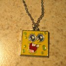 Yellow Square Sponge Bob Child Necklace & Pendant New #575