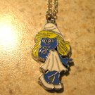 Girl Smurfette Necklace & Pendant New #589