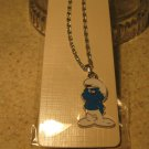 Blue and White Pouting Smurf Necklace & Pendant New #340