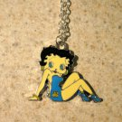 Aqua Swimsuit Betty Boop Necklace & Pendant New #759