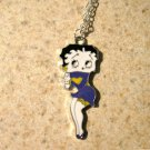 Purple Dress Betty Boop Necklace & Pendant New #760