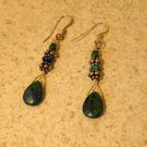 Beautiful Tibetan Silver Blue Lapis Pierced Dangle Earrings NEW! #236