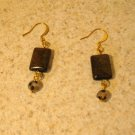 Beautiful Brown Cat Eye Pierced Earrings NEW! #237