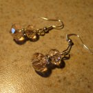 Beautiful Silver Pink Swarvoski Crystal Pierced Earrings NEW! #813