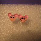 Adorable Pink Smiling Mickey Mouse Stud Earrings for Children NEW #613A