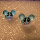 Adorable Blue Mickey Mouse Stud Earrings for Children NEW #613D