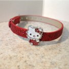Adorable Red Sparkle Bling Hello Kitty Bracelet for Children NEW #942