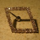 Belly Navel Ring Pink Sapphire Crystal Diamond Shape NEW #531A