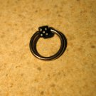 Body Piercing Jewelry 1/2 in Black Dice Captives HOT! #823D