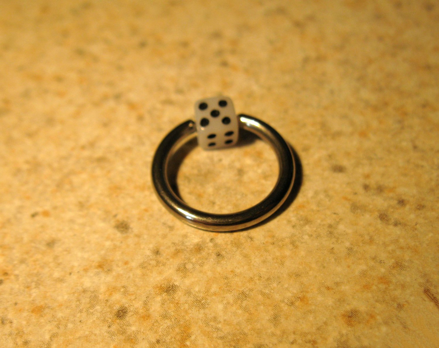 Body Piercing Jewelry 1/2 in White Dice Captives HOT! #823B