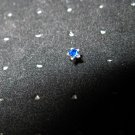 Nose Stud Blue Sapphire Crystal Star Design Body Jewelry NEW #849G