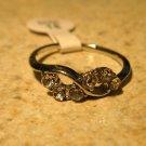 Ring Beautiful White Topaz Size 8 New! #237