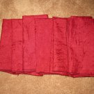 Beautiful Burgundy Dinner Napkins X6 NEW #D164