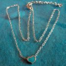 Lovely Silver Blue Heart Design Necklace & Pendant NEW! #505