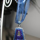 Lovely Necklace & Pendant Blue Bell Shape Design Gemstone #619