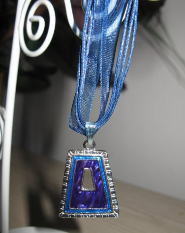 Lovely Necklace & Pendant Blue Bell Shape Design Gemstone #619