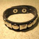 Bracelet Men Women Black Leather Wide Stud Punk Unisex HOT #749