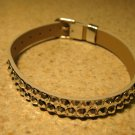 Gold Metallic Bling Rhinestone Bracelet NEW #318