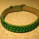 Green Metallic Bling Rhinestone Bracelet NEW #317