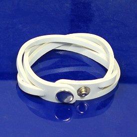 Unisex White Leather Weave Style Punk Bracelet HOT! #700