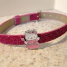 Adorable Purple Sparkle Bling Hello Kitty Bracelet for Children NEW #522