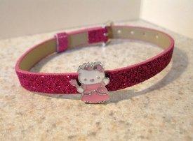 Adorable Purple Sparkle Bling Hello Kitty Bracelet for Children NEW #522