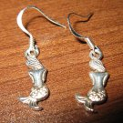 Tibetan Silver Pierced Earrings Mermaid Design Beautiful & New #D283