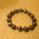 Bracelet Metallic Gray Faceted Crystal 7-8mm Stretch #966