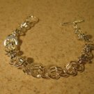 Bracelet Silver Plated Polished Circle Chain Link NEW #815