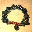 Bracelet Multi Sparkle Turquoise Green Faceted 6-7mm Crystal Stretch #538