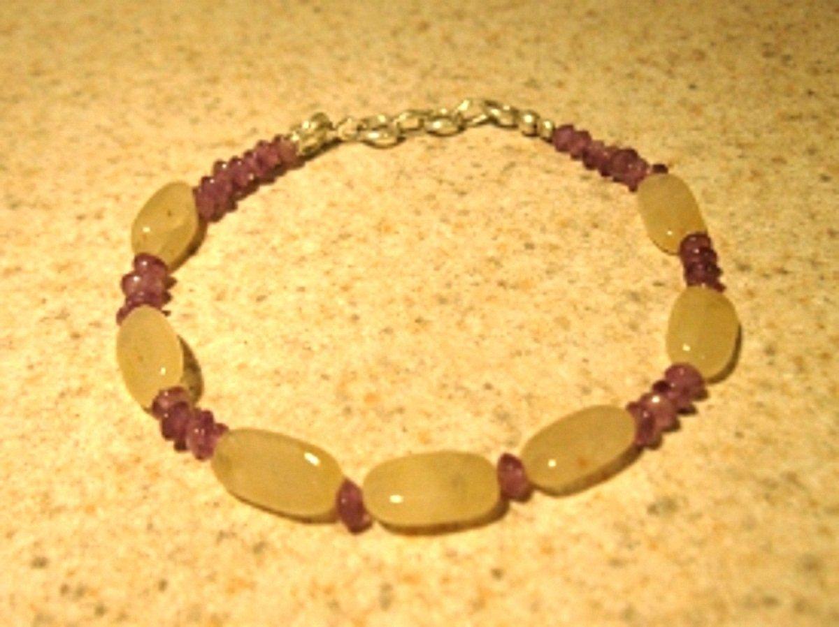 Purple Amethyst and White Jade Bangle Bracelet HOT! #291