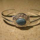 Bracelet Silver Plated Blue Turquoise Bangle Hot! #718