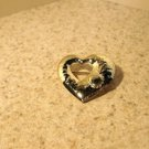Beautiful Gold Heart Shaped Pin New #T109