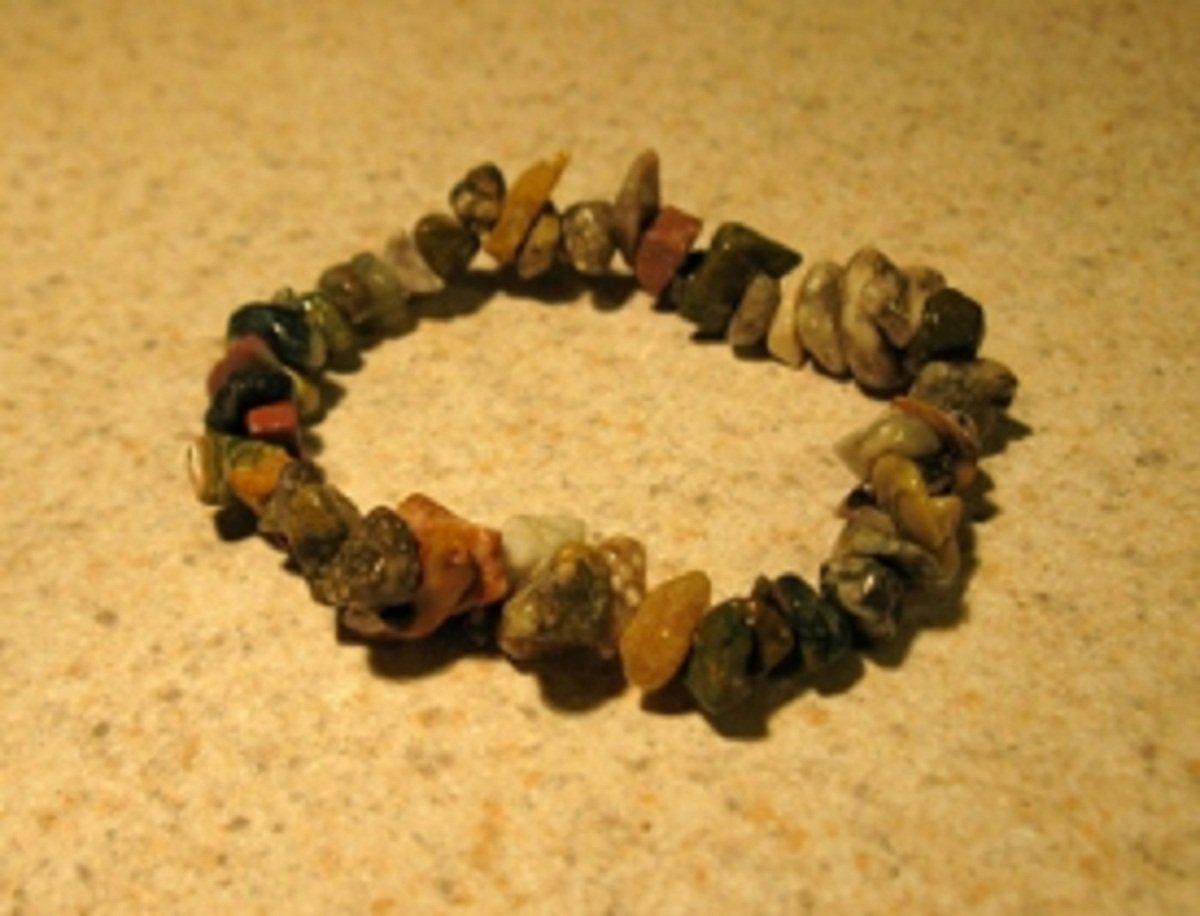 Multi Colored Agate and Jade Gemstone Bangle Bracelet HOT! #402