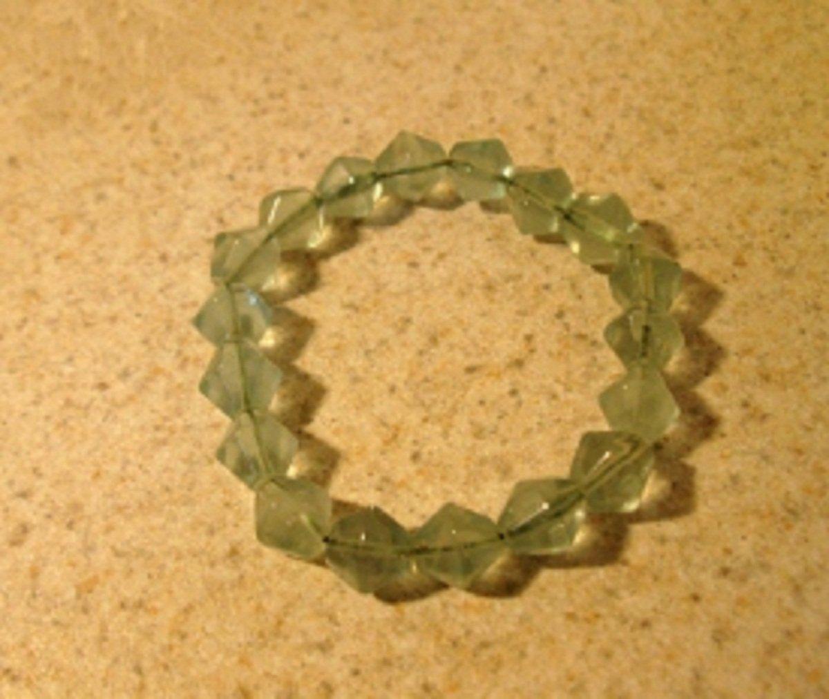 Green Crystal Bangle Bracelet New #972