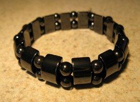 Bracelet Black Hematite Stretch Bangle NEW & HOT! #894