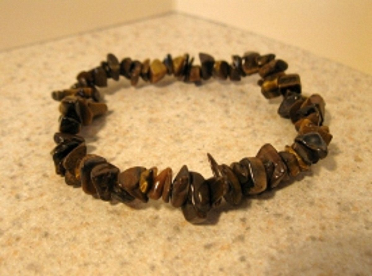 Genuine Tiger Eye Gemstone Bangle Bracelet HOT! #896