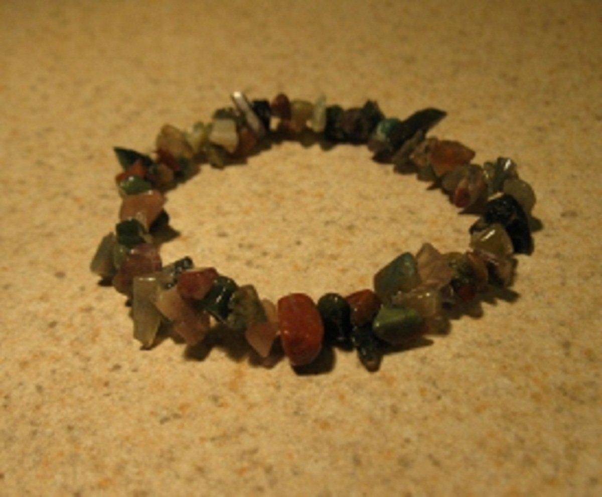 Natural Mookaite Gemstone Bangle Bracelet HOT! #401
