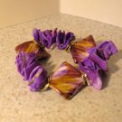 Bracelet Purple Shell Bangle with Golden Bead Design NEW & HOT! #566