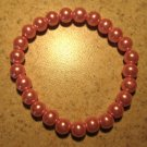 Pink Pearl Bangle Bracelet New #554
