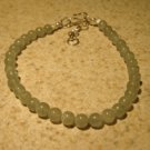 Genuine Green Aventurine & Pearl Gemstone Bangle Bracelet New #397