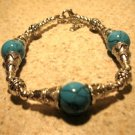 Tibetan Silver Blue Howlite Cuff Bangle Bracelet New #935