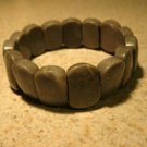 Genuine Gray Jasper Gemstone Bangle Bracelet New #396