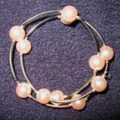 Bracelet Pink Pearl & Silver Wrap Around NEW! #388