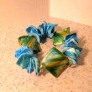 Bracelet Aqua Shell Bangle with Golden Bead NEW & HOT! #470