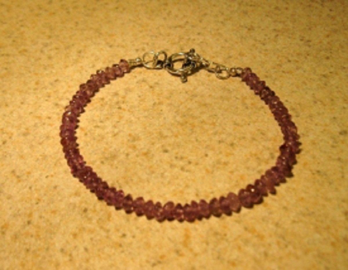 Genuine Purple Amethyst Gemstone Bangle Bracelet New #364