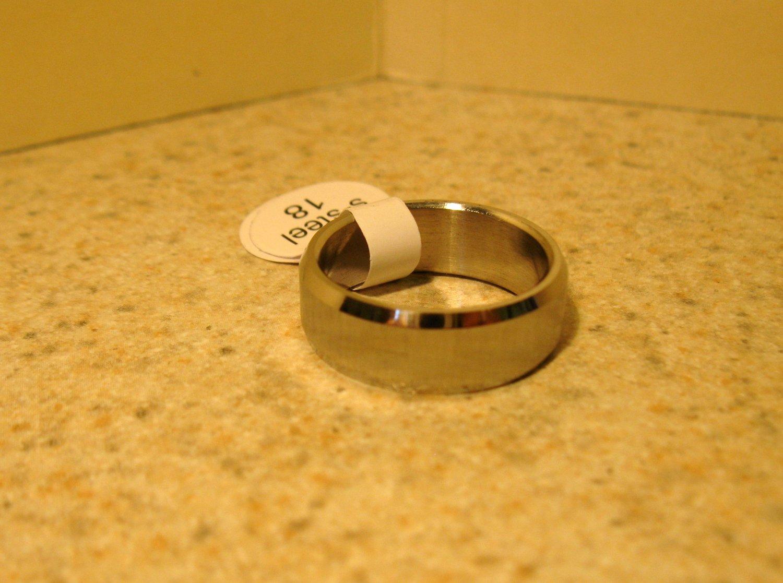 Brushed Silver Wedding Band Ring Unisex Size 8 New #117